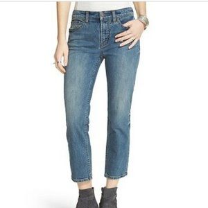 Free People Casper Mid Rise Cropped Jeans
